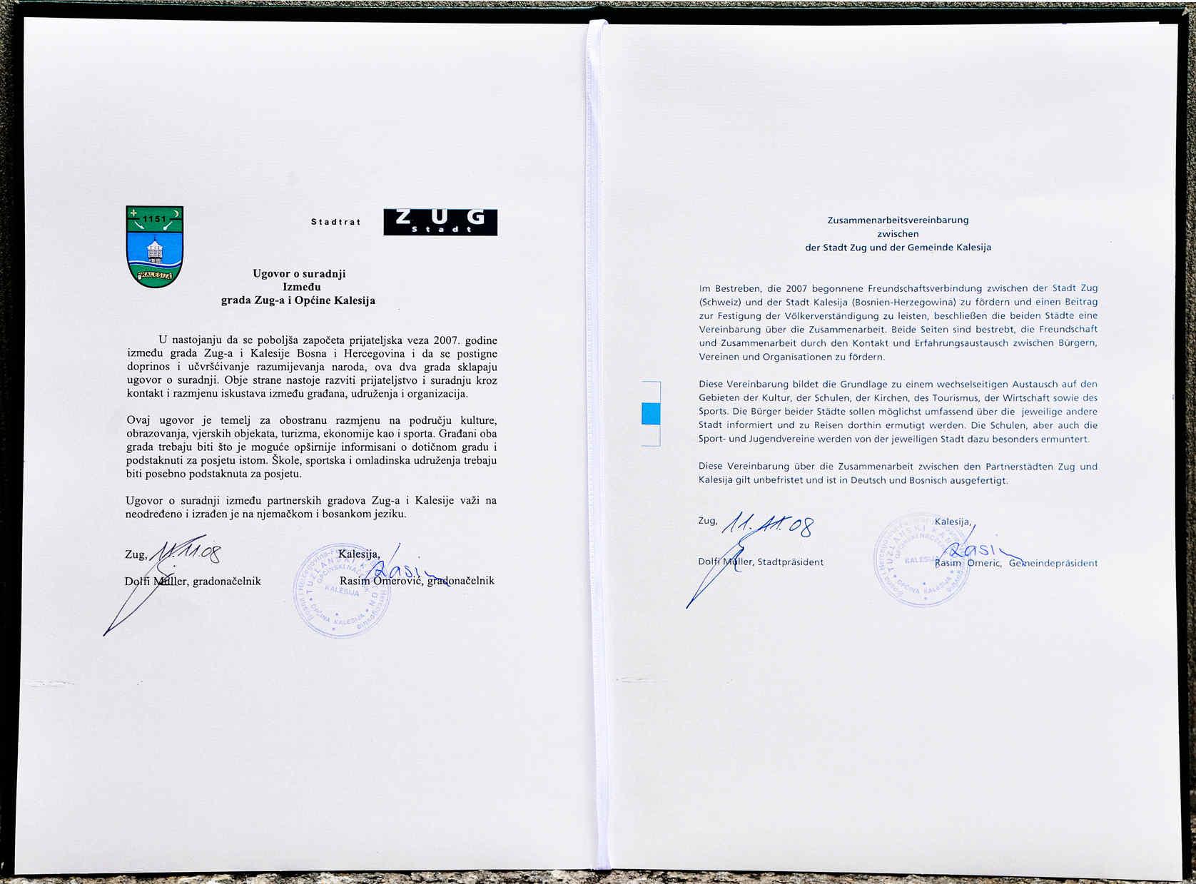 Zusammenarbeitsvereinbarung